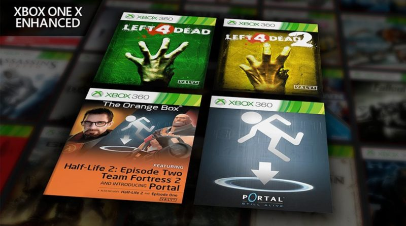 half-life 2 - the orange box - portal - portal 2 - left 4 dead - xbox one x - enhanced 2 - xboxdev.com
